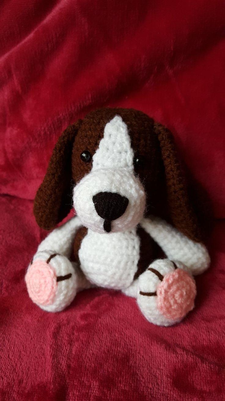 Háčkovaný pejsek bígl /  crochet puppy