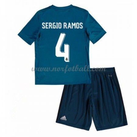 Billige Fotballdrakter Real Madrid Barn 2017-18 Sergio Ramos 4 Tredje Draktsett Fotball Kortermet