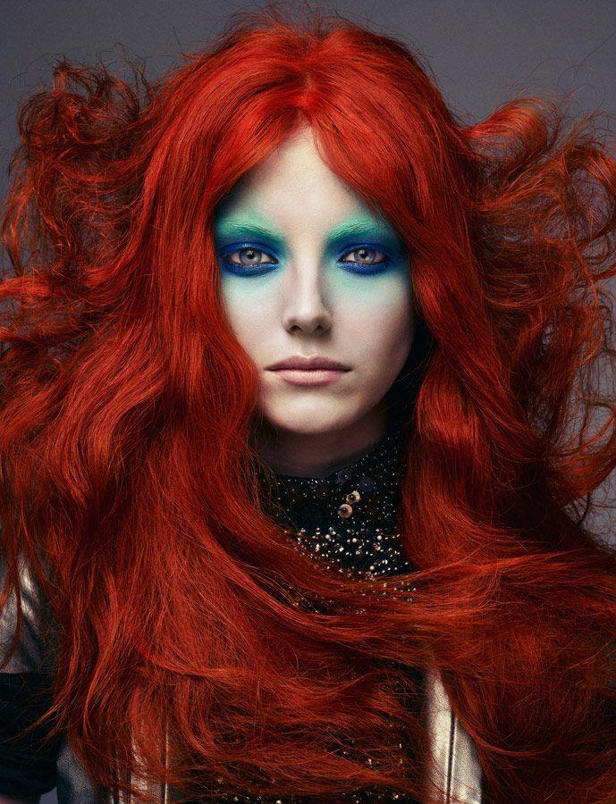 red hair w/ mermaid makeup