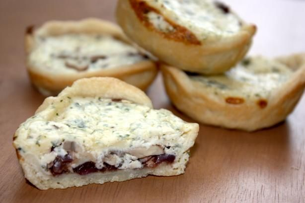 These mushroom blue cheese tartlets are a delicious party food. Good warm or cold.