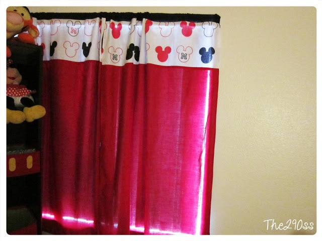 mickey mouse curtains tutorial mickeymouse mickey mouse roomdeco