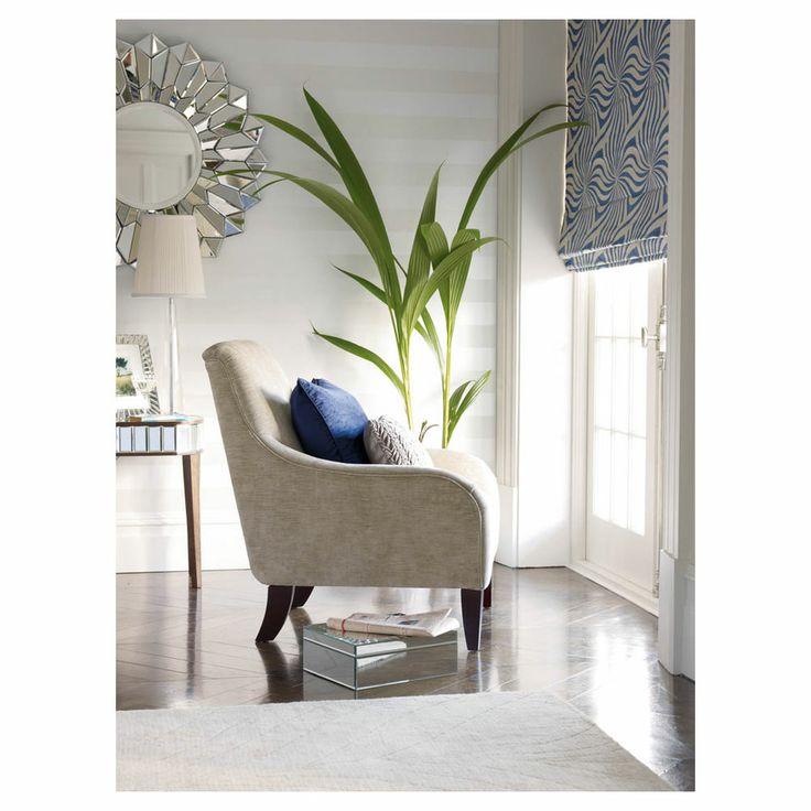 Laura Ashley Wallpaper Lille White 10m - Masters Home Improvement