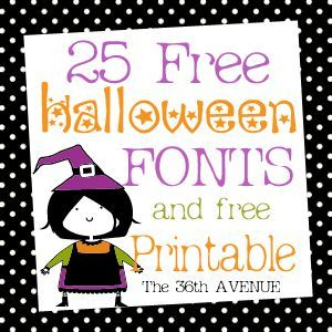 25 Halloween Free Fonts and Printable. Eeek! #Halloween #fonts #printable @The 36th Avenue .com