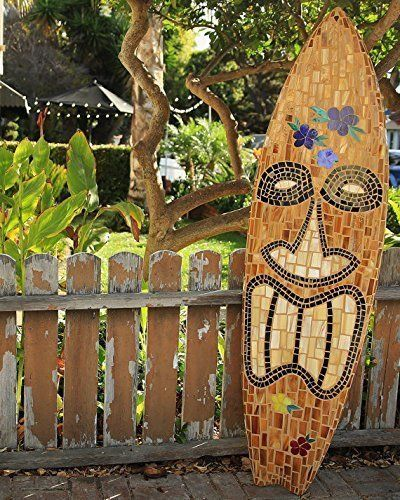 TIKI Glass Mosaic Surfboard