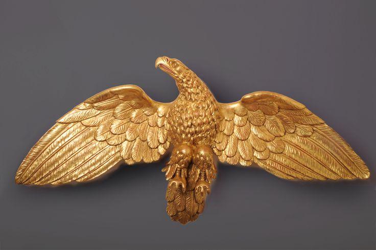 Grande Aquila in legno intagliato e dorato  Francia Primo Impero 1808