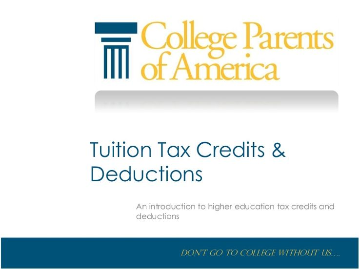 answers taxes credits higher education