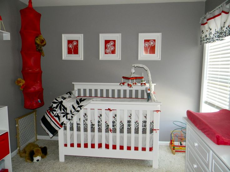 Bedroom Ideas Red And Grey 1082 best gray rooms images on pinterest | babies nursery, baby