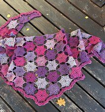 Vintergatan - en sjal full av stjärnor - virk-kit