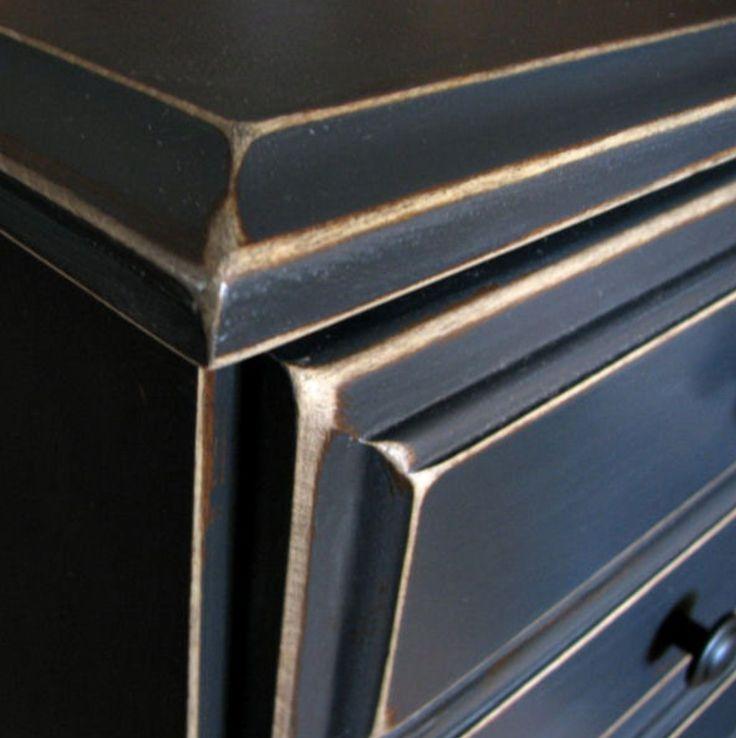 M s de 1000 ideas sobre cabecero dorado en pinterest - Muebles pintados en plata ...