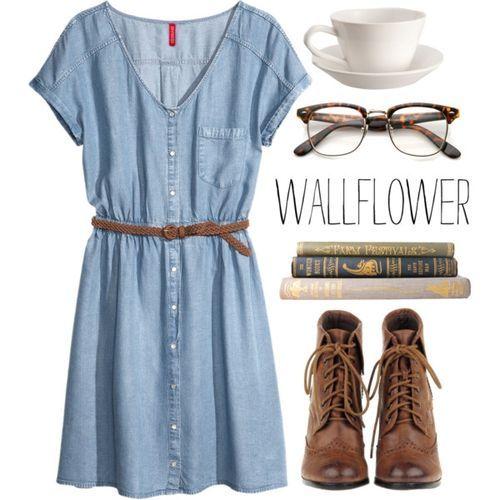 #outfit #university #school Wallflower