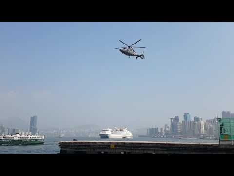 Camera shutter speed syncs with rotor on helicopter....looks like a new anti-gravity machine...