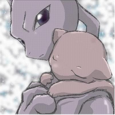 pics of mew and mewtwo | Cute Mew and Mewtwo - mew-pokemon Photo