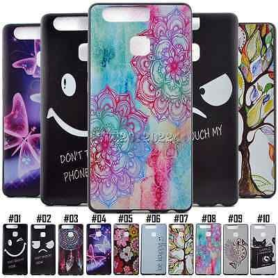 Pattern Silicone TPU Soft Rubber Gel Protective Back Skin Case Cover For Huawei