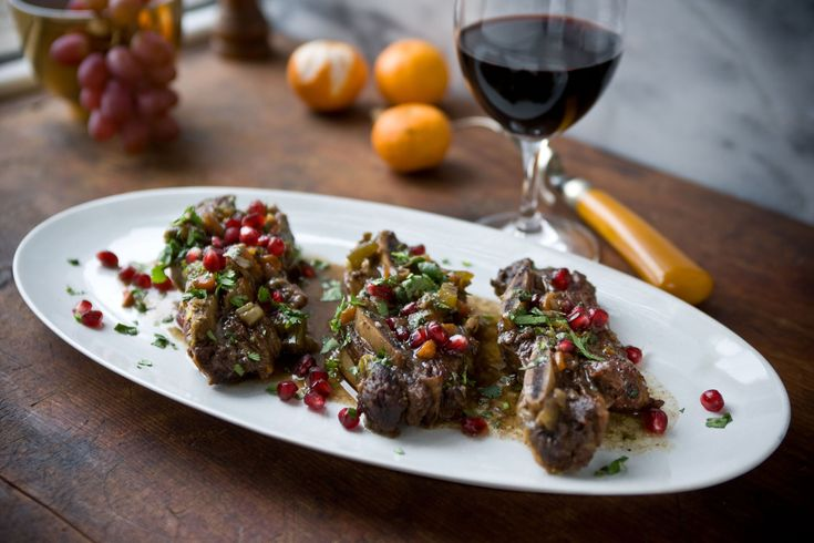 Braised Flanken With Pomegranate by Melissa Clark