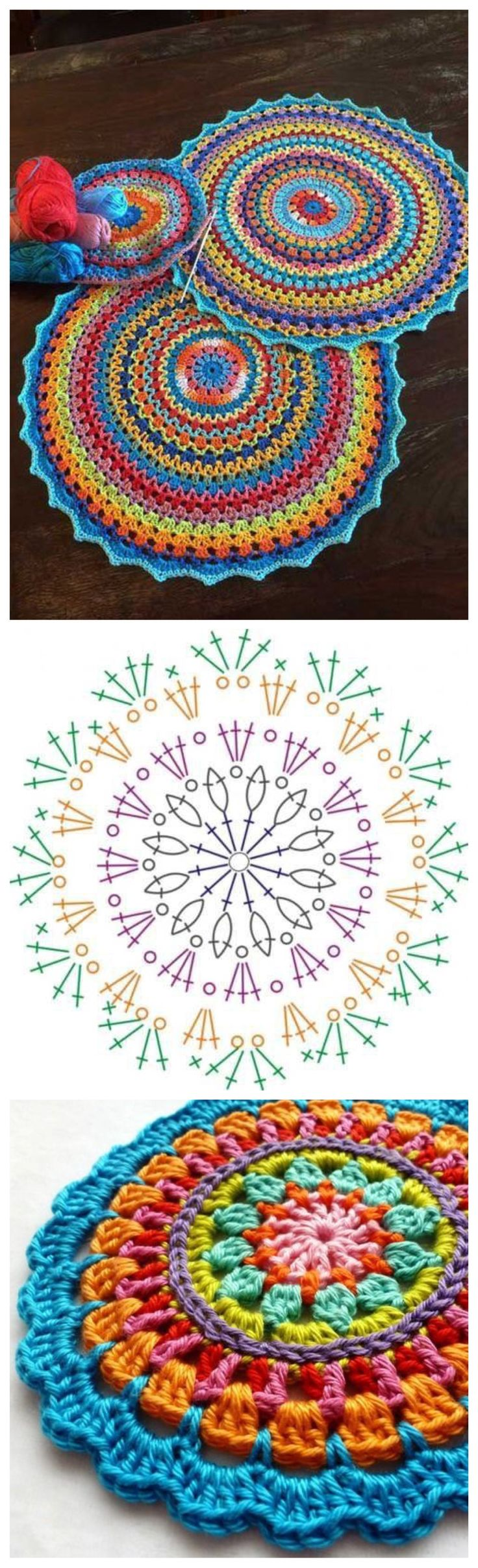 48 Best Crochet Images On Pinterest Motif Coaster Patterns Diagrams A Few Pretty Snowflakes Mandala Round Doilies Squares Granny Mandela
