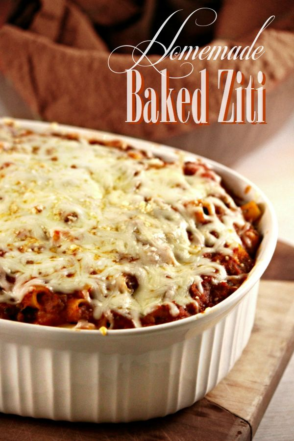 Homemade Baked Ziti Recipe - Our family favorite!