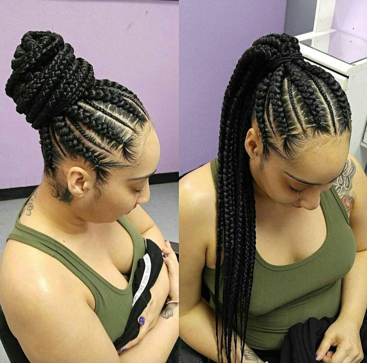 how to make ponytail of straight brazilian weave : cornrow ponytail cornrows braids ghana braids sisterlocks updo box ...