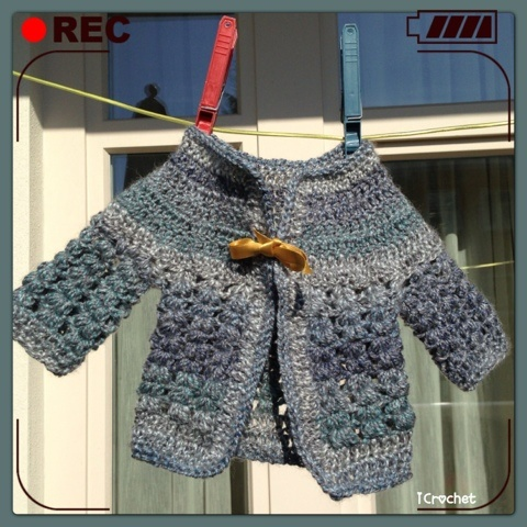 iCrochetstuff: Baby vestje haken met patroon, crochet pattern. This is so cute!!!