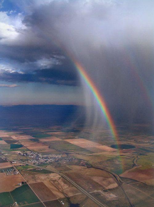 rain cloud with rainbow