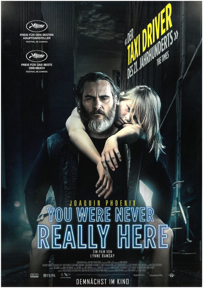 YOU WERE NEVER REALLY HERE - 2018 - ORIG. FILMPOSTER A4 JOAQUIN PHOENIX