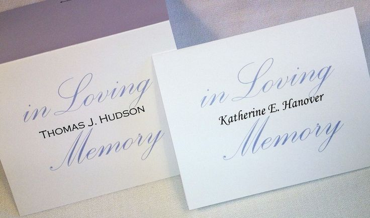 50 Personalized Custom Thank You Note, Funeral Memory Sympathy Cards & Envelopes