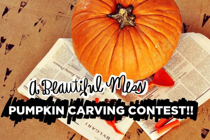 Pumpkin carving contest from A Beautiful Mess! Winner takes a Kitchenaid mixer!