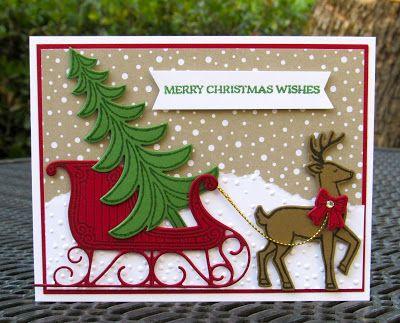 Stampin' Up! Santa's Sleigh Krystal's Cards #stampinup #krystals_cards #santassleigh