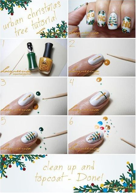 149 best gorgeous christmas nail art images on pinterest make up christmas nails design tutorial christmas tree nails art tutorial for fashion girls prinsesfo Image collections