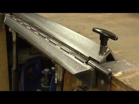 Making An Inset Bench Metal Folder Brake Youtube