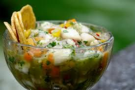 Ceviche of Shrimp and Sea Bass