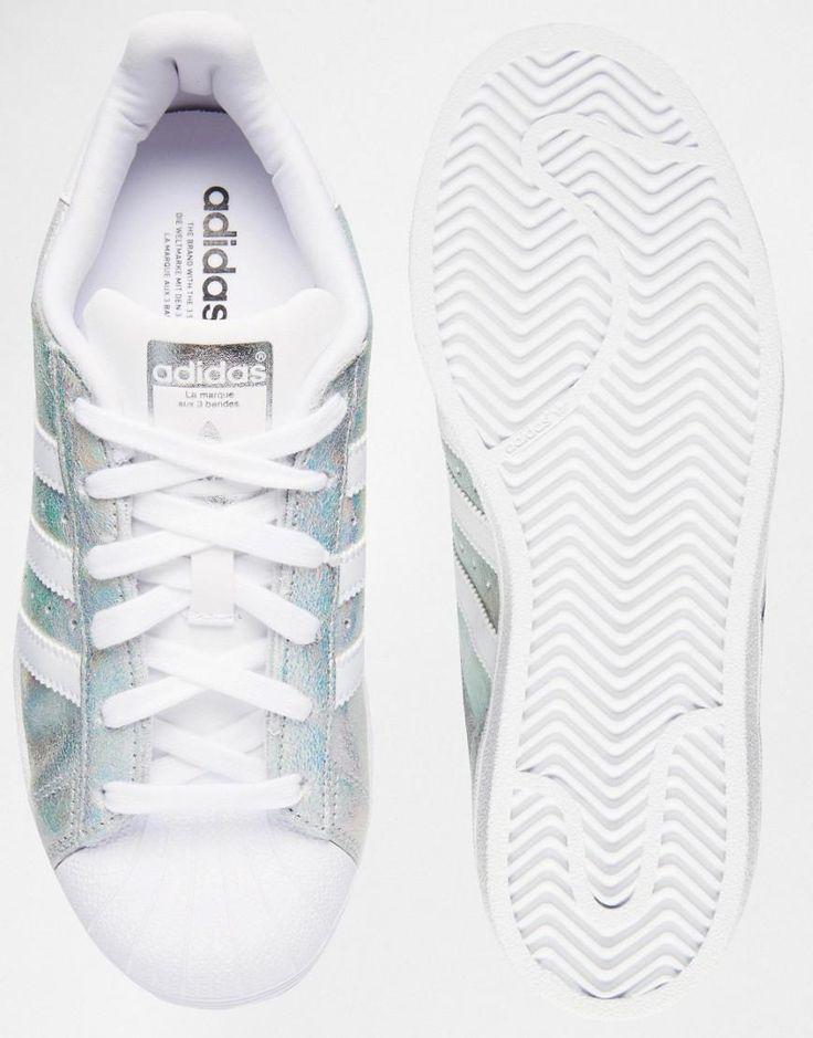 Shop adidas Originals Superstar Holographic White Trainers at ASOS.