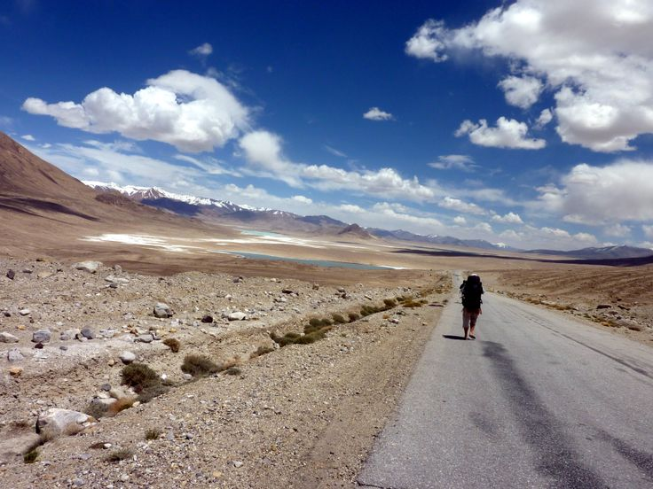 The lonely road, heading towards Kyrgyzstan and then to China. It took a whole day for a truck to come!