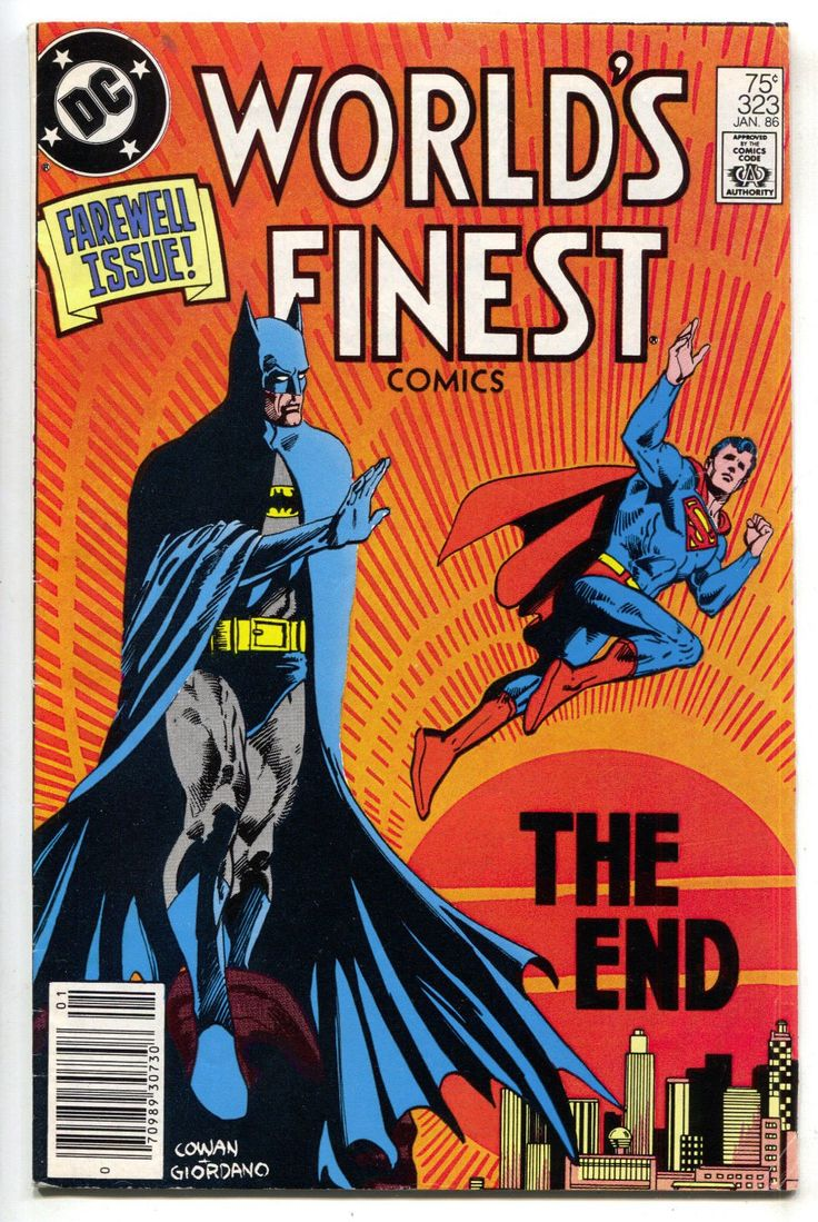 Worlds Finest 323 DC 1986 FN Batman Superman Nightwolf Final Issue