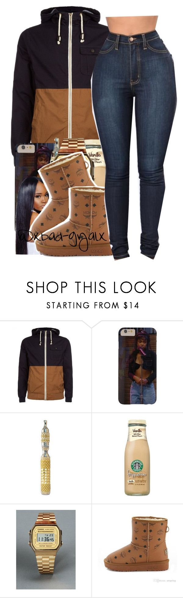 """$$$"" by xbad-gyalx ❤ liked on Polyvore featuring G-Shock and MCM"