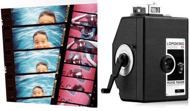 Lomography's LomoKino, consumer 35mm movie camera.