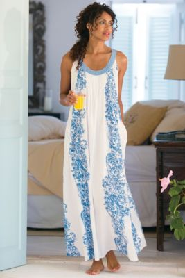 Petites Summer Breeze Gown - Summer Nightgown, Light Cotton Nightgown | Soft Surroundings