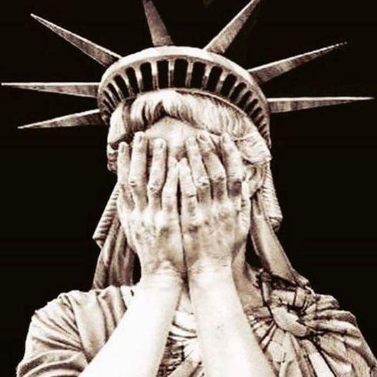 Nathalie Rykiel  partage le facepalm de la Statue de la Liberté                                                                                                                                                                                 Plus