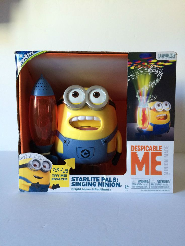 Despicable ME Starlite Pals Signing Minions Musical Nighlight NEW (see video)