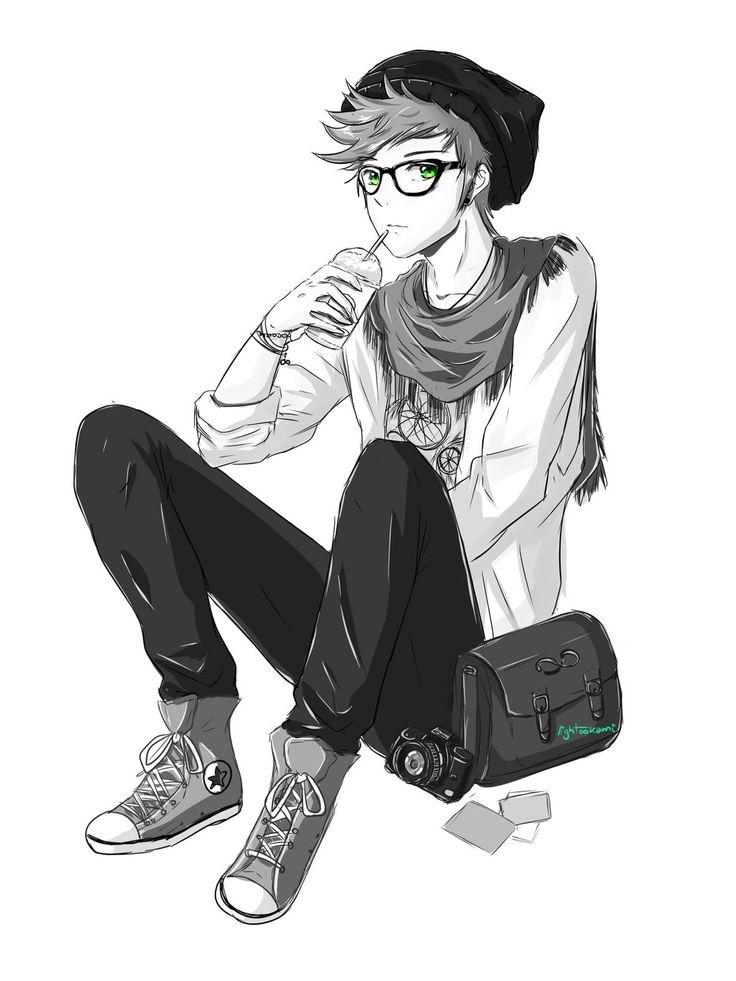 anime hipster boy - Buscar con Google