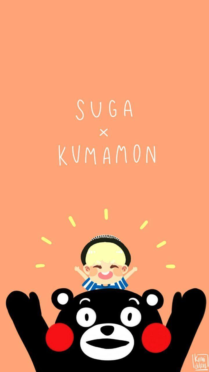 nn retweeted:       Suga and Kumamon wallpaper #Suga #BTS #Kumamon