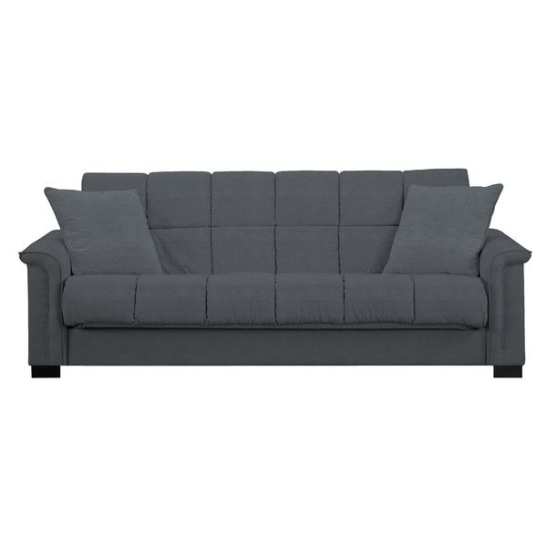Portfolio Caroline Grey Microfiber Convert A Couch Sleeper Sofa Ping Great