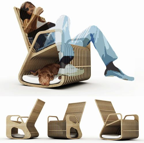 Rocking Chair by Paul Kweton #dog #chair