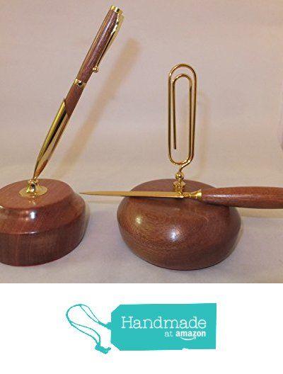 Woodturned desk set from Nigel Peters Woodturnings https://www.amazon.co.uk/dp/B01MXKOU2K/ref=hnd_sw_r_pi_awdo_4Yyzyb5JW1RK7 #handmadeatamazon
