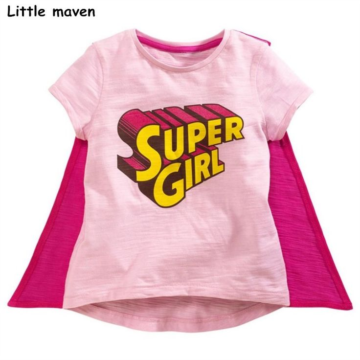 Little maven baby girl clothes 2017 summer girls short sleeve O-neck letter t shirt Cotton super girl print brand tops 50856 //Price: $23.10 //     #baby