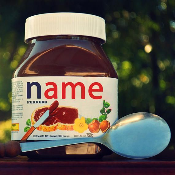 Personalised Label For Nutella Jar Nutella name Personalised Nutella Your name