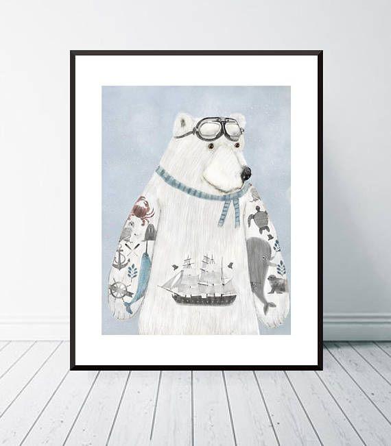 the arctic explorer.polar bears .arctic animals.bespoke polar