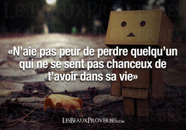 Les Beaux Proverbes – ne jamais s'accrocher à quelqu'un qui ne nous mérite pas!!!!!
