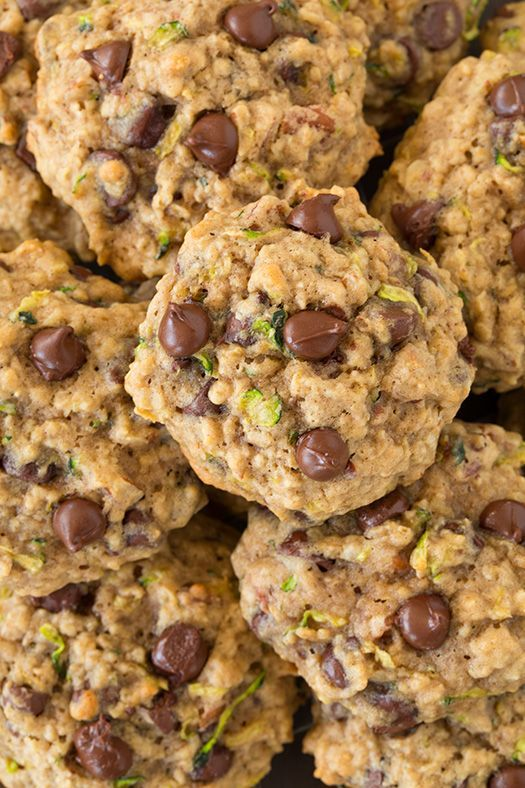 Zucchini-Oat Chocolate Chip Cookies - My Honeys Place