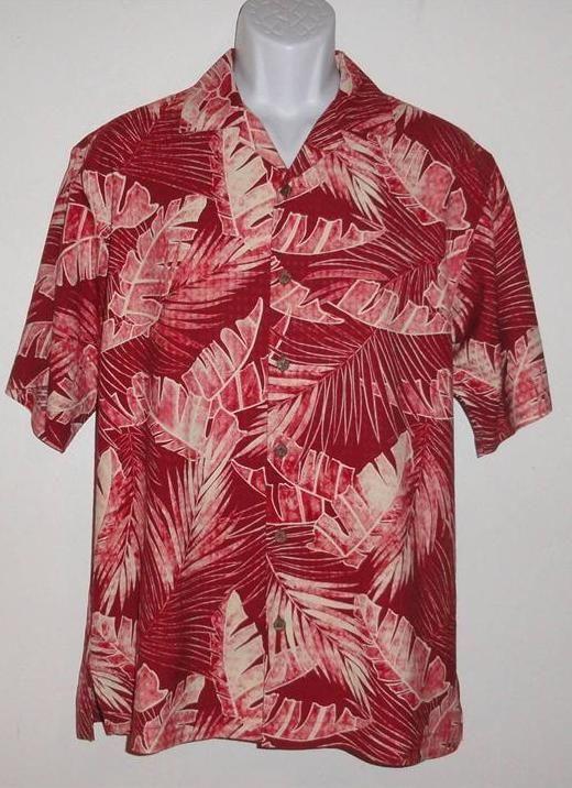 Tommy Bahama Hawaiian Shirt Euc Men 39 S Small Casual Red
