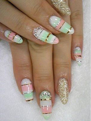 Stylish Pastel Nail Art Designs for Summer - The new season is all about color, so update your manicure by choosing the most fun and flirty pastel tones as they can be mixed and matched to perfection. From simple to uber-sophisticated, the new nail art trends will be difficult to resist, so check out the following designs and draw inspiration for your next mani!